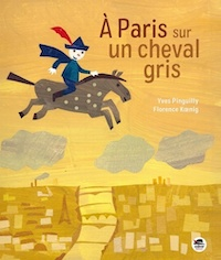 Paris sur un cheval gris